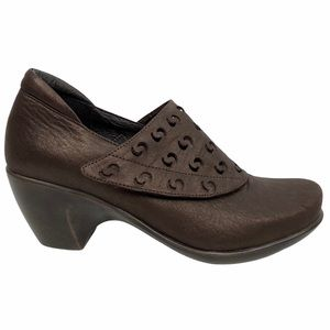 NAOT Precious Brown Shimmer Nubuck Leather Bootie